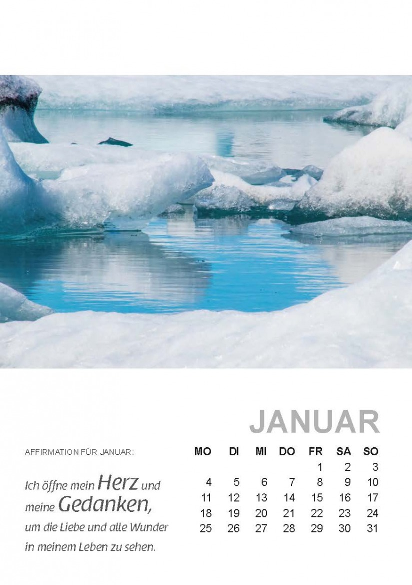 Kalenderblatt Januar 2021